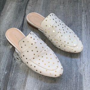 Star loafer slides - real leather   - worn